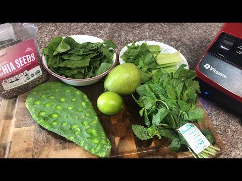 Jugo verde para la diabetes,  bajar el colesterol y los triglicéridos #jugoscurativos