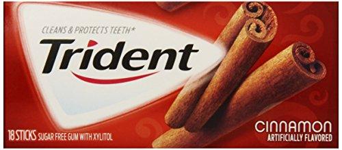 Trident Cinnamon 3 Pack 18 Stick Packs