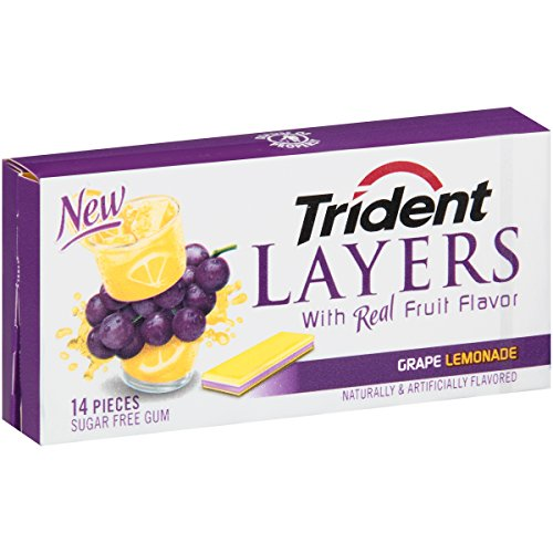 Trident Layers Lemonade 14 Piece 12 Pack